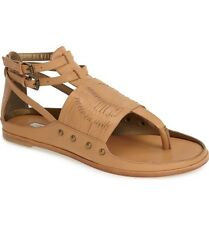 CYNTHIA VINCENT $189 NATURAL LEATHER JINXED GLADIATOR SANDALS  6.5