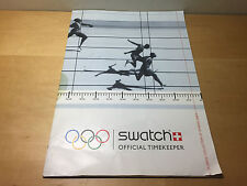 Catalogue SWATCH Officielle Chronométreur Olympique Collection d'Athènes 2004