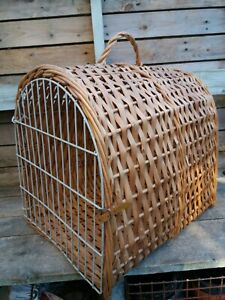 Vintage Wicker Cat Pet Carrier Basket