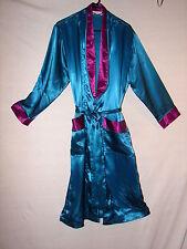 Victoria's Secret Silky Feel Polyester Robe in Size P/S ~ Petite Small Blue Plum