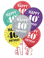 40th Birthday Latex Balloon (15ct) ~ Fortieth Birthday Party Supplies Decoration