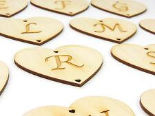 coeur en bois, avec lettres gravé, jeunes mariés 8 cm CADEAU MARIAGE