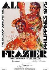 Retro 1975 Muhammad Ali vs Joe Frazier Advertising Poster A3 A2 A1 Print