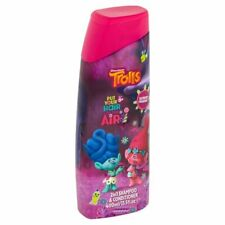 2 x Dreamworks Trolls 2 In 1 Shampoo & Conditioner 400ml Each Childrens Girls