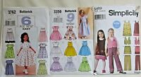 Lot of 3 Cut Childrens/Girls Sewing Patterns Sizes 3-8 (See Photos)
