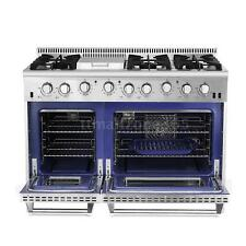 "48"" Gas Range Stove 6 Burner Stainless Steel Professional Thor Kitchen HRG4808U"