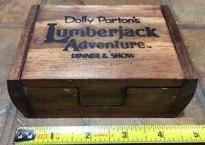 Dolly Parton's Lumberjack Adventure Dinner Show, crafted wood box, keepsake