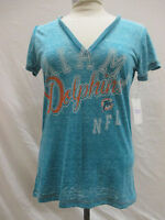 Miami Dolphins Women's M Touch Turquoise V-Neck Shirt NFL A14