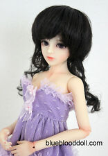 "1/4 1/3 BJD 7-8"" doll wig black color synthesis mohair MSD dollfie luts ship US"