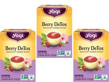 3 x 16 bags YOGI TEA Berry DeTox Herbal Tea Bags (Total: 48) liver kidney health