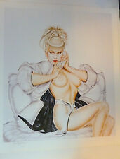 Olivia De Berardinis Love American Style Nude PinUp Girl Signed Art Print #21/50