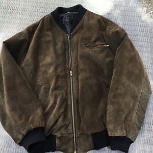 vintage Real leather bomber jacket Made In England XL