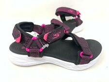 NEW! Skechers Youth Girl's LIL RADIANCE Sandals Black/Hot Pink #86965L 80T z