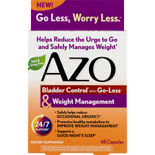 AZO Bladder Control Weight Management Supplement 48 Capsules.