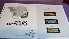 hojas sellos america upaep, Efilcar especial 1995.