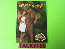 WILMA AND FRED 1994 THE FLINTSTONES MOVIE FLINT-FOIL CHASE CARD #1