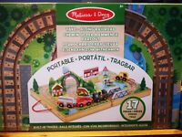 Melissa & Doug Take Along Railroad Wooden Toy New in sealed box