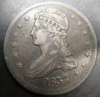 1837 Capped Bust Half Dollar Very Fine VF Original Great Eye Appeal Weak Rev