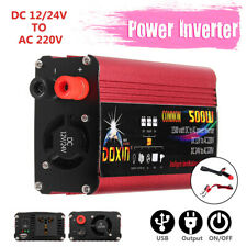 1000W Car Power Inverter DC12/ 24V to AC220V Sine Wave USB Converter
