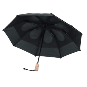 Gustbuster Metro LTD Limited Wood Handle Umbrella Black Automatic Open / Close