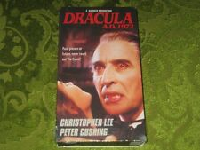 DRACULA AD 1972 VHS VIDEO CHRISTOPHER LEE PETER CUSHING RARE MOVIE NOT ON DVD!!