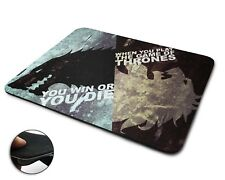 Game Of Thrones Win Or Die Premium Quality Flexible Rubber Mouse Mat / Mouse Pad
