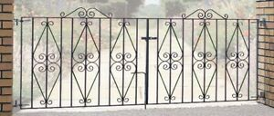 Wrought iron driveway gates steel gates Galvanised & Powder Coated (Sterling)