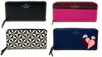 Kate Spade Cameron Large Continental Leather Zip Around Wallet
