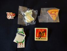 Vintage McDonald's Lapel Pin Set of 5 ~ Boardwalk, Supercrew, Bucket, 30th B-Day