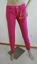 New Dittos Low Rise Stretch Skinny Ankle Zip Denim Jeans Sz 28 6 Hot PInk