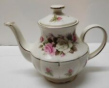 Teapot Pink and White Roses Arthur Wood Fine Staffordshire Ironstone England