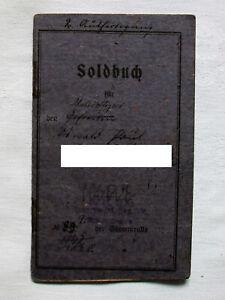 Orig.1.WK Militär Soldbuch Unteroffizier K.S.Reserve Infanterie Regiment Nr.106