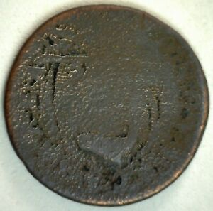 Colonial New Jersey Copper Coin Very Worn
