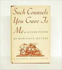 ROBINSON JEFFERS: Such Counsels You Gave To Me & Other Poems FIRST ed. 1937 HCDJ