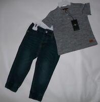 Tee /& Jeans Set 7 For All Mankind Kids Three-Piece Varsity Zip Jacket NWT