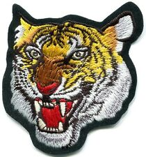 Tiger cat puma jaguar lion cheetah animal wildlife applique iron-on patch S-588