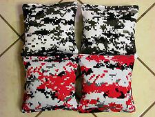 Quality Cornhole Bags, corn hole  Red & Black Digital Camouflage Set/8 free ship