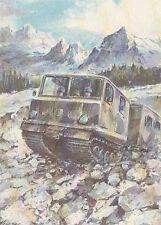 A5004) ALPINI SU CINGOLATO DA NEVE BV 206.