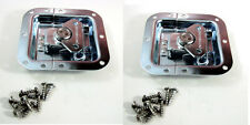 2 Pack Penn-Elcom L905/915Z Recessed Butterfly Latch- Zinc Plated Finish