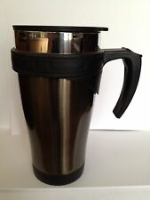 Double Walled Stainless Steel Mug With Drink Thru Lid Charcoal Color, New In Box