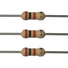 100 x 2k Ohm Carbon Film Resistors - 1/4 Watt - 5% - 2K - Fast USA Shipping