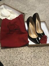CHRISTIAN LOUBOUTIN Size 7 SO KATE Black Patent Heels Pumps Shoes 37