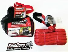 """KINGCORD 7/8"""" X 20' KINETIC ENERGY JEEP 4X4 TRUCK TOW ROPE 24700 LB STRAP SNATCH"""