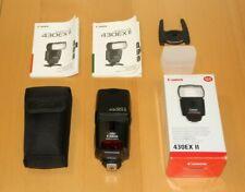 Canon Speedlite 430EX II Shoe Mount Flash, Excellent.  Boxed + Canon case + Diff