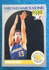 SARUNAS MARCIULIONIS (#115) ROOKIE Trading Card (89-90 NBA HOOPS). RARE & MINT!