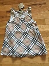 NWT BURBERRY NOVA CHECK PLAID TOP 6Y 116