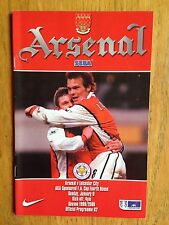 Arsenal v Leicester City 1999/2000 FA Cup programme