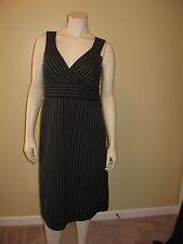 Fylo By Nylon Women's Black/Gray Print Empire Waist, Sleeveless Dress Size 8