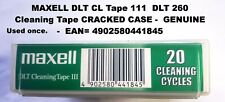 More details for maxell dlt cleaning tape 111  dlt 260 used once **cracked case see pix genuine