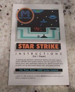 Atari 2600 STAR STRIKE Manual Instructions Booklet MATTEL 1982